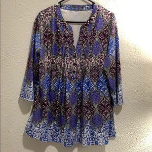Women's career casual blouse 2X